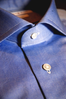 オーダーシャツ 貝ボタン