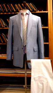 wool & linen & silk jacket