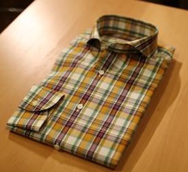 オーダーチェックシャツ1