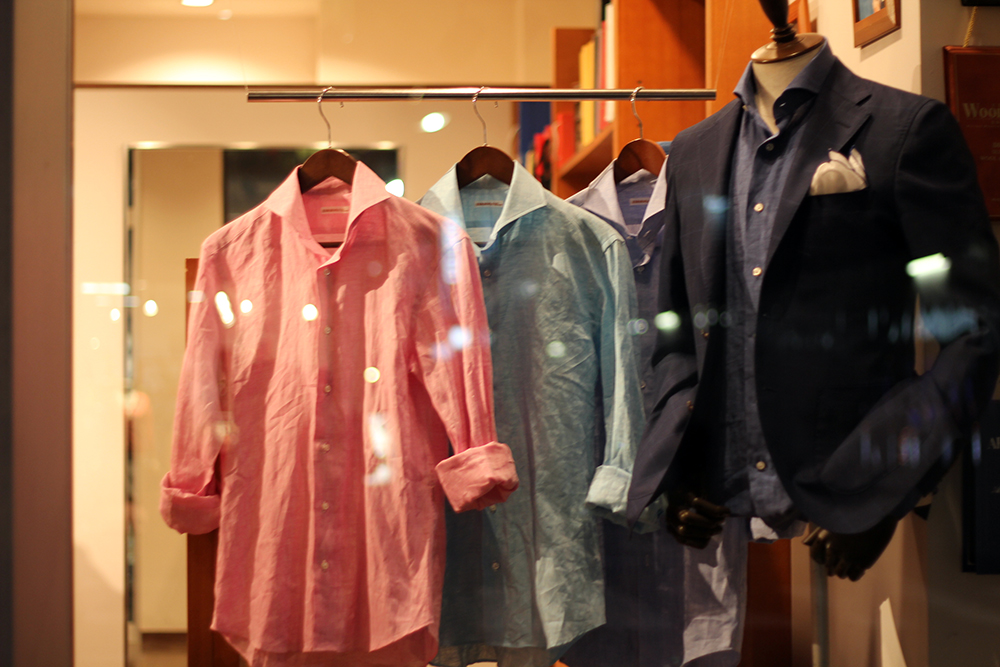 order linen shirt window