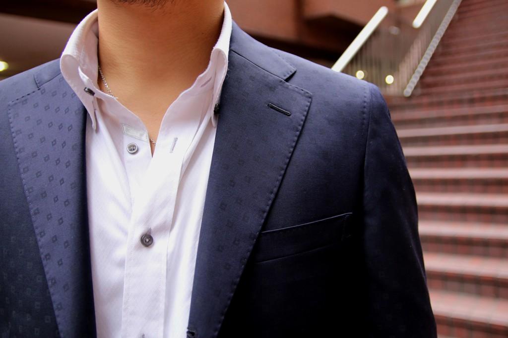 Canonico,カノニコ,ネイビースーツ,小紋柄,ZERBINO,Order Suit,オーダースーツ,マニカカミーチャ
