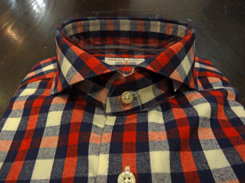 Canclini,カンクリーニ,ZERBINO,オーダーシャツ、カジュアルシャツ、チェック、柄