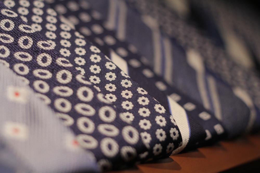 イタリア ネクタイ 小紋柄 国内縫製