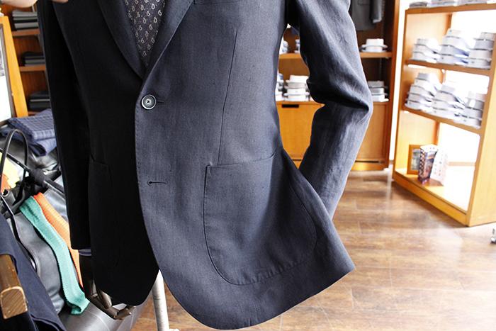 linen jacket pocket