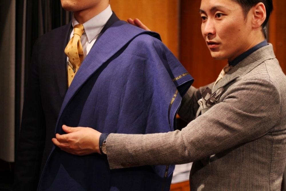 生地 オーダー スーツ 東京