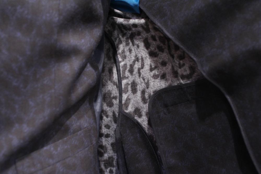 豹柄 ひょう柄 レオパード スーツ オーダー ネイビー 3ピース スリーピース コーディネイト