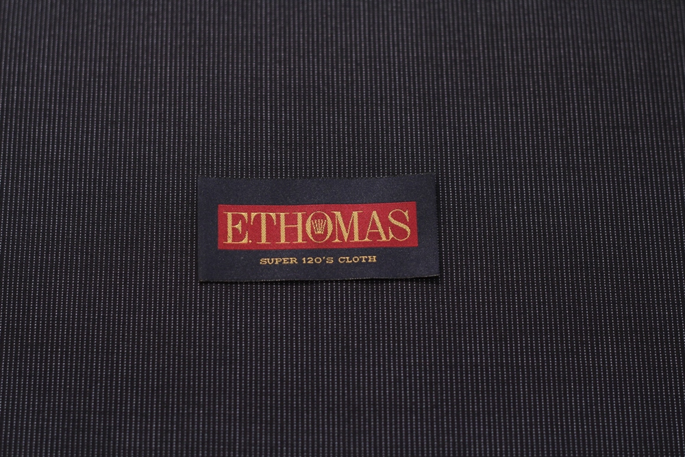 ストライプ スーツ 生地 オーダー イートーマス E.Thomas