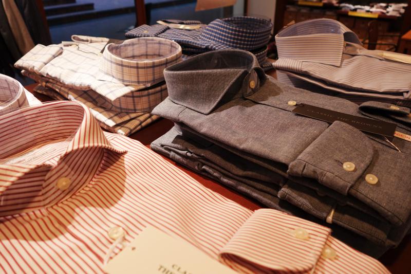 シャツ ビジネス カッタウェイ クールビズ オシャレ かっこいい 安い セール ストライプ 衿 サイズ