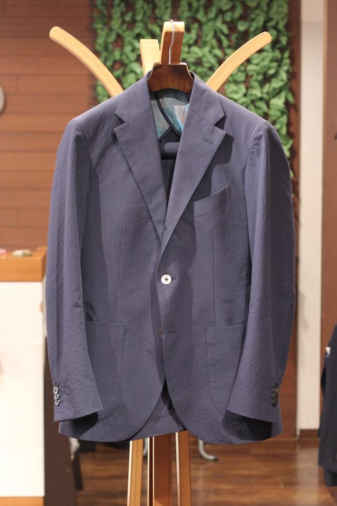 デュエミラゴリ スーツ オーダー シアサッカー チェック