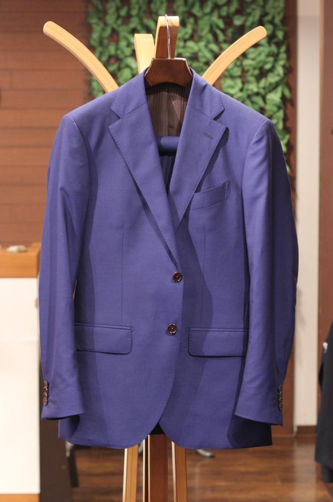 スーツ オーダー ブルー トレーニョ
