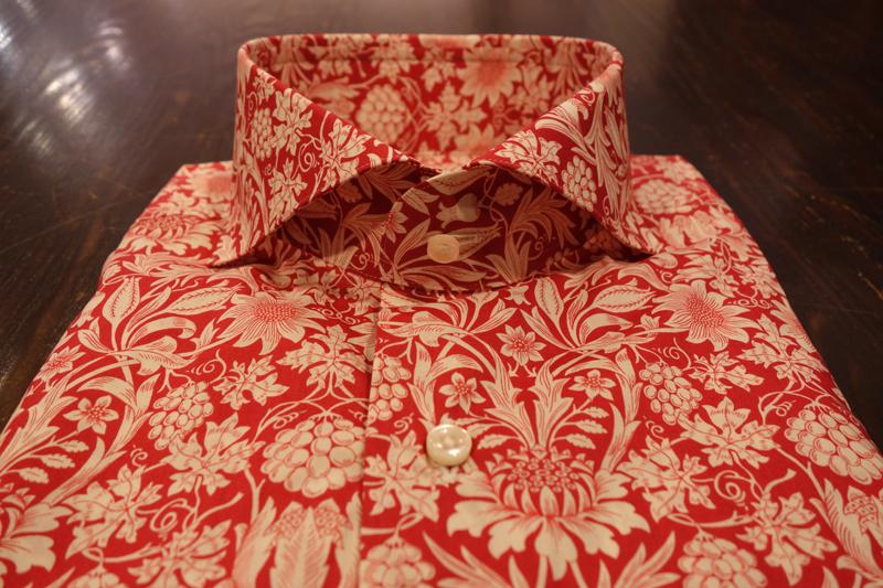 リバティ プリントシャツ Liberty Print Shirt オーダーシャツ ZERBINO 新宿 虎ノ門