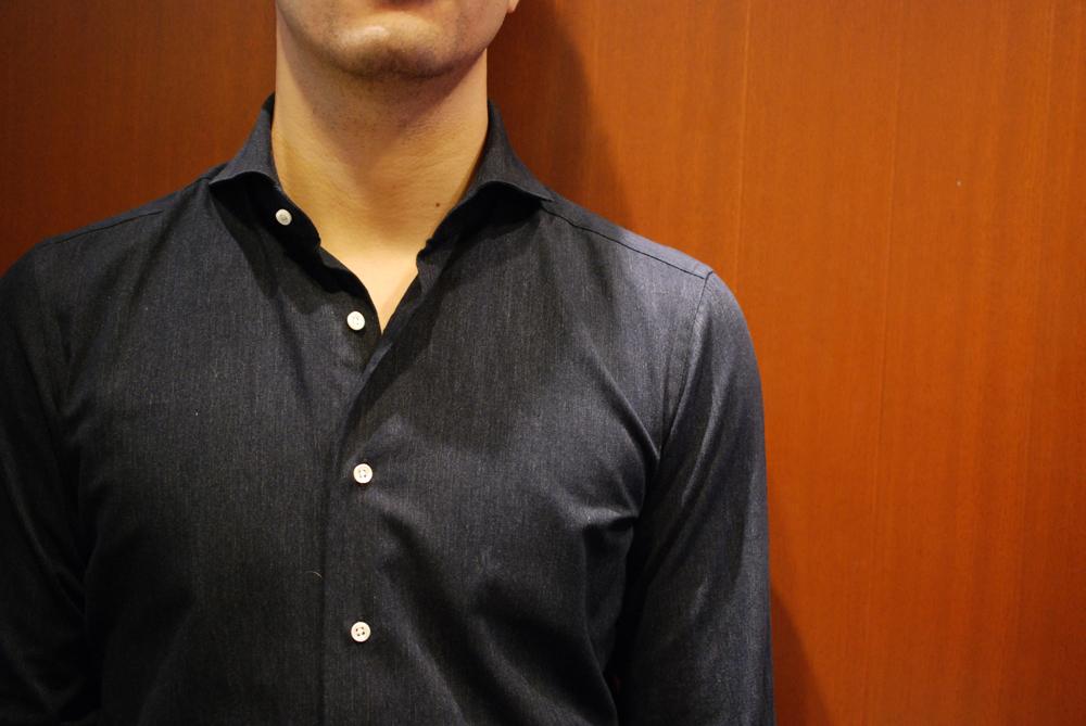 色落ちしないIndigo shirt