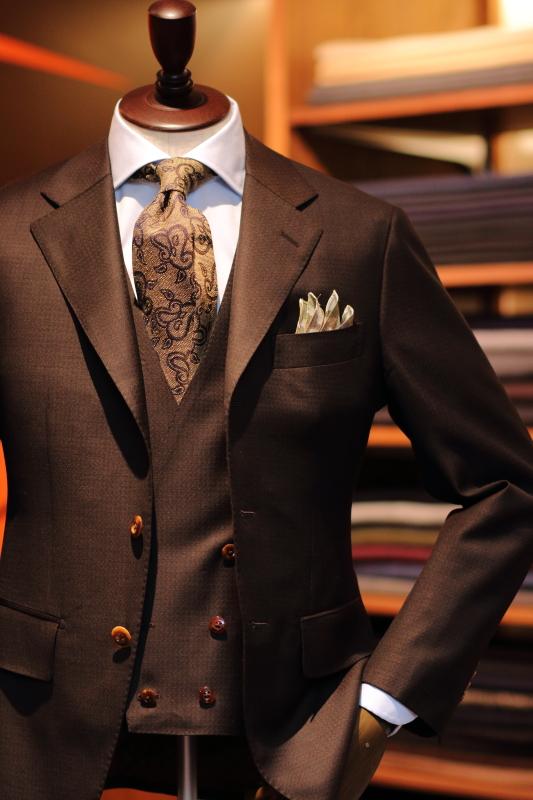 ースーツ ダブルベスト付き