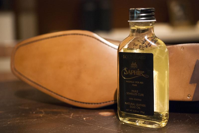 SAPHIR SOLEGUARD ZERBINO レザーソール ソール ゼルビーノ オーダースーツ オーダーシャツ オーダーコート オーダーシューズ シューケア SAPHIR サフィール ソールガード 靴底 オイル エイジング 手入れ 革靴