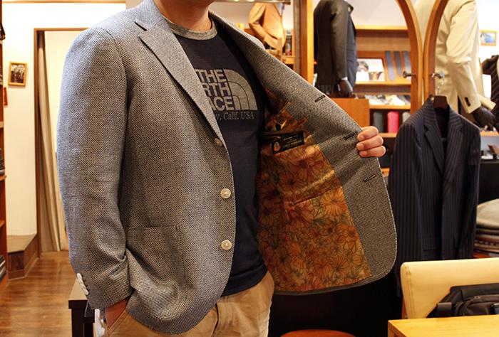 mr.I Jacket flower lining