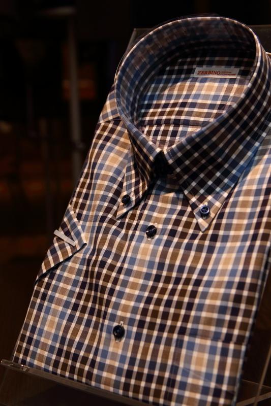 インポートファブリックシャツ FM89309 オーダーシャツZERBINO銀座店