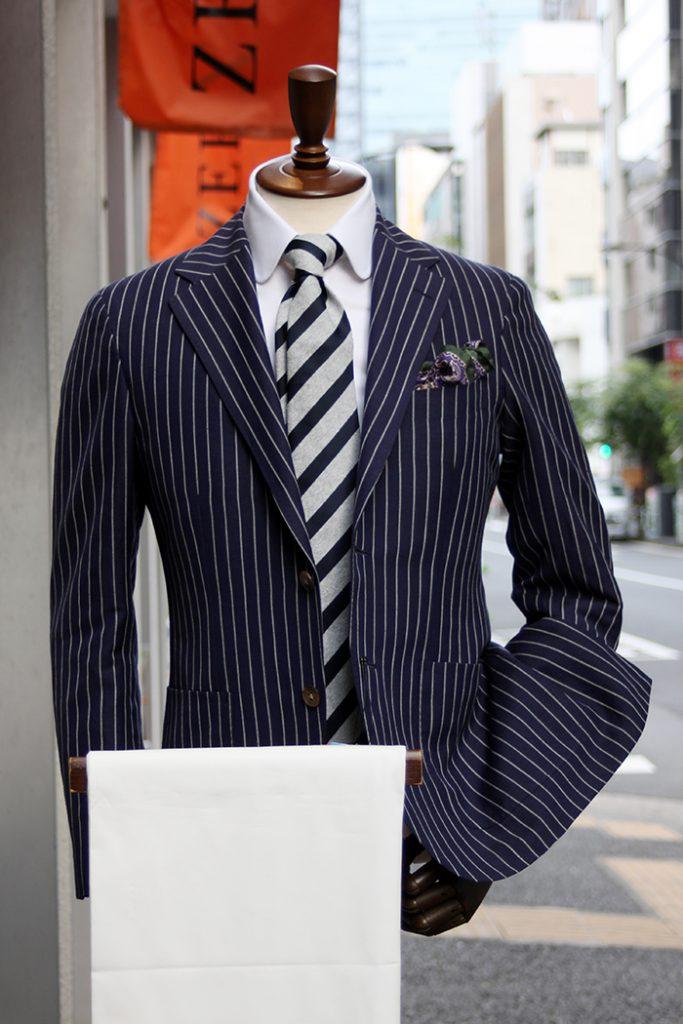 wool & linen summer stripe jacket 1