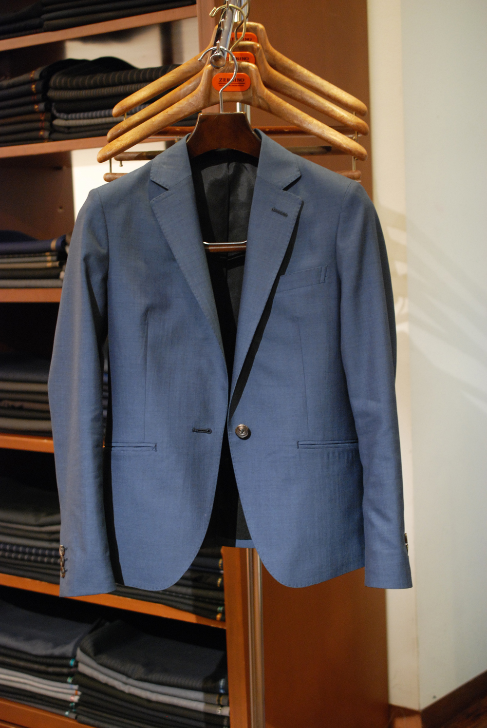 スーツ トレーニョ ブルーグレイ