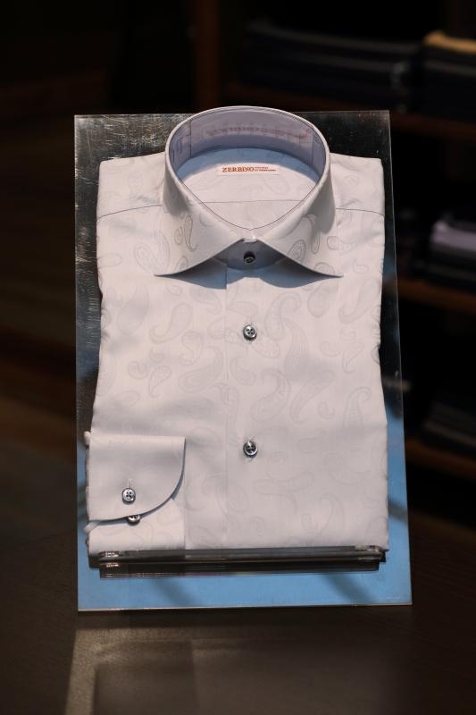 FM82509 オーダーペイズリーシャツ ZERBINO銀座店