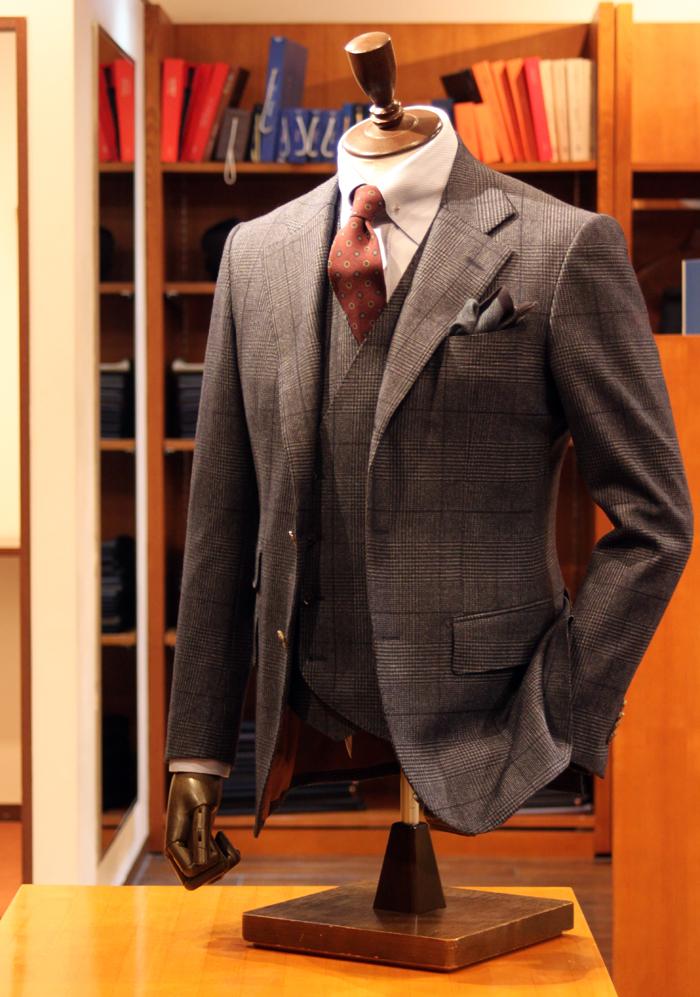 canonico glencheck suit