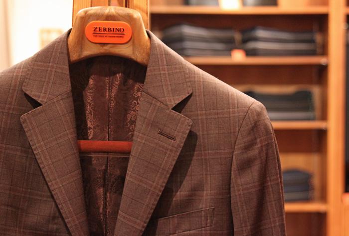 スーツ ブラウンチェック