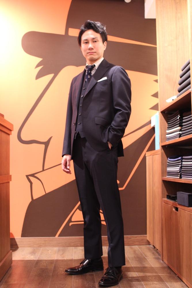 A様 モヘア混スーツ2