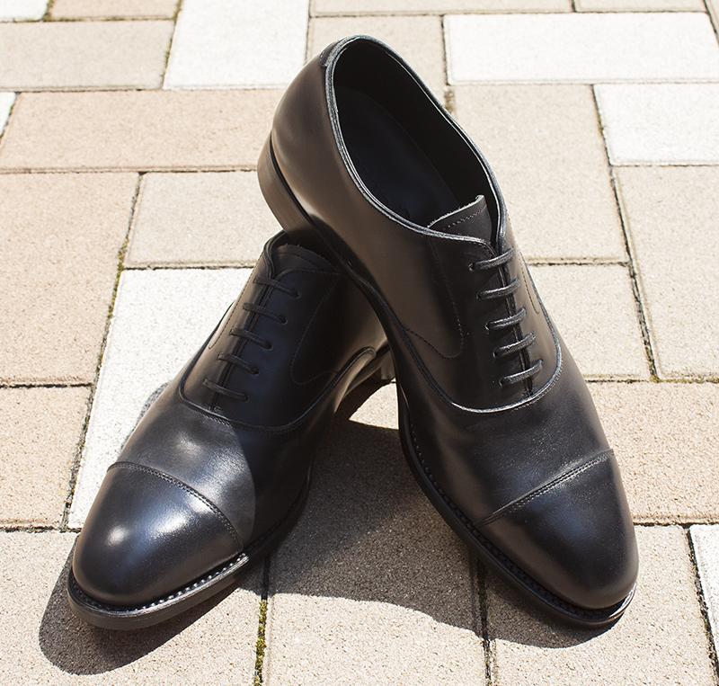 サンプルシューズ クリアランス 宮城興業 ストレートチップ 黒靴 革靴 レザー シューケア 手入れ