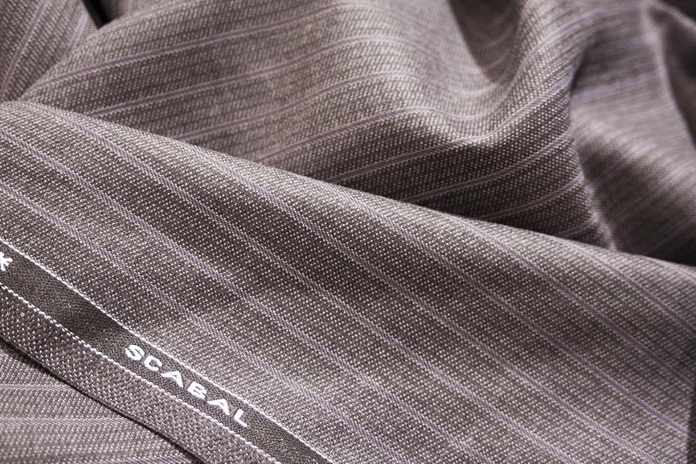 スキャバル 英国 ストライプ クラシック SCABAL 紫 グレー