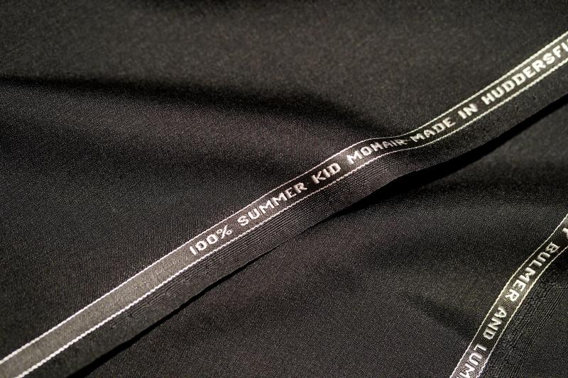 bulmer&lumb 黒モヘア100% オーダースーツZERBINO銀座店