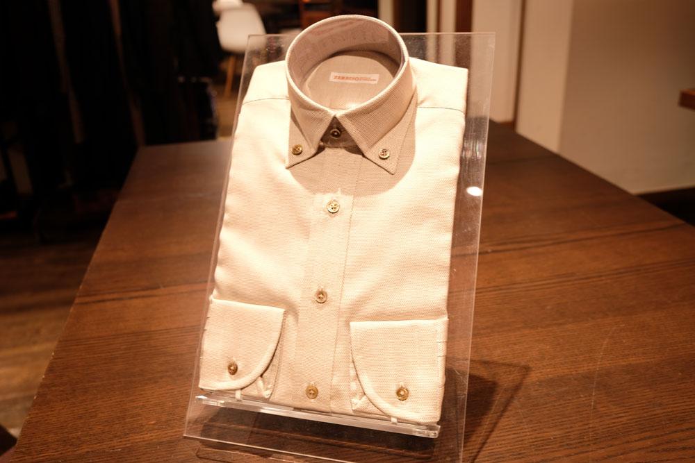 ブラウン ボタンダウンシャツ