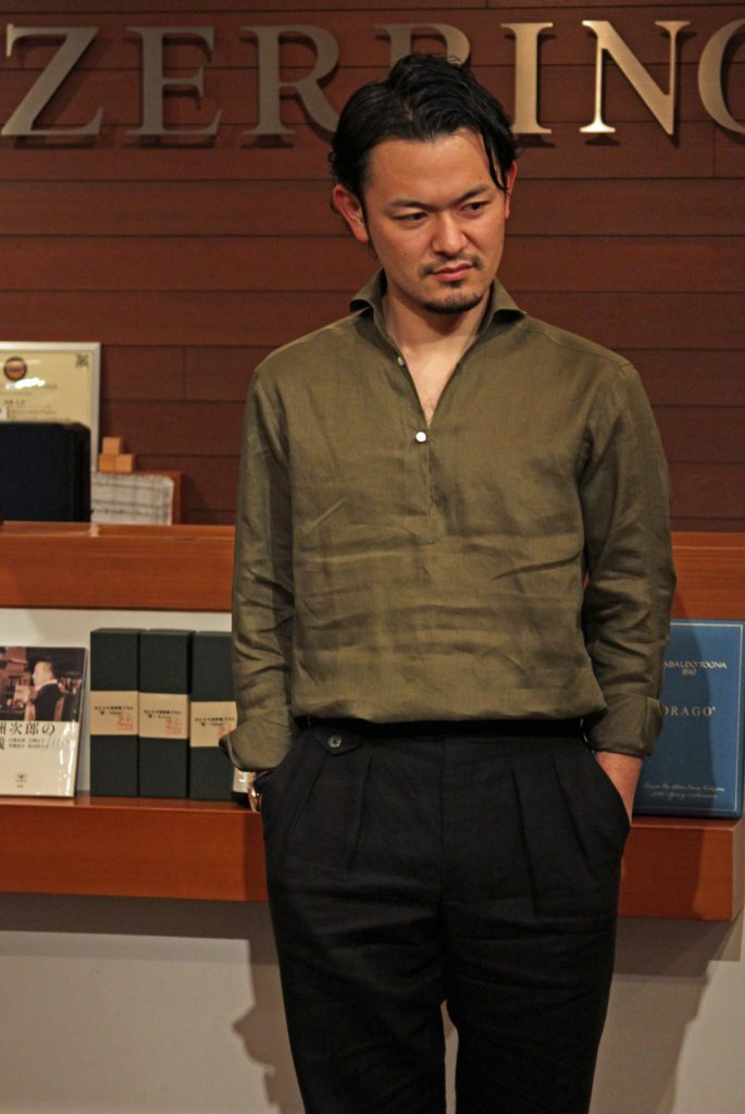 カプリシャツ リネン 麻