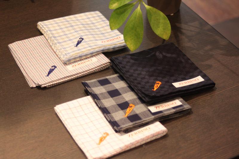 ZERBINO、handkerchief、ハンカチ