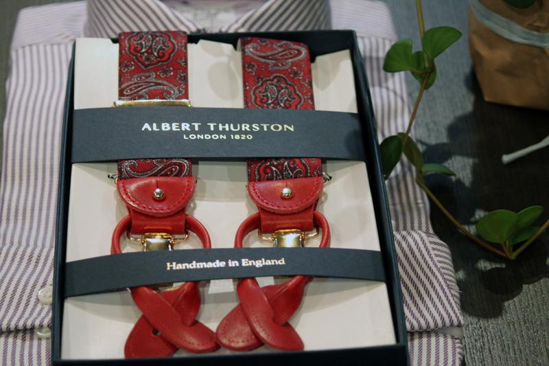 ALBERT THURSTON(アルバートサーストン)の  サスペンダーがイギリス入荷しました。