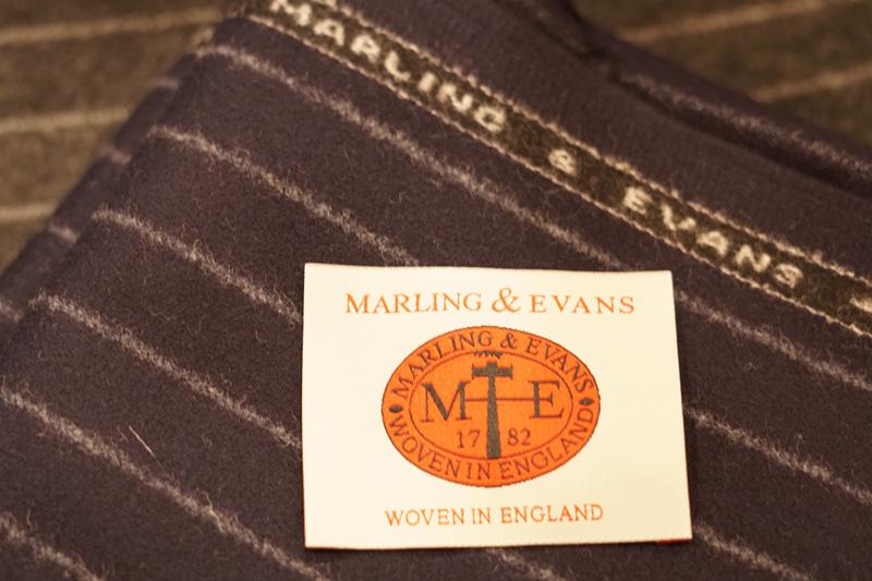マーリング&エヴァンスの生地マークです。